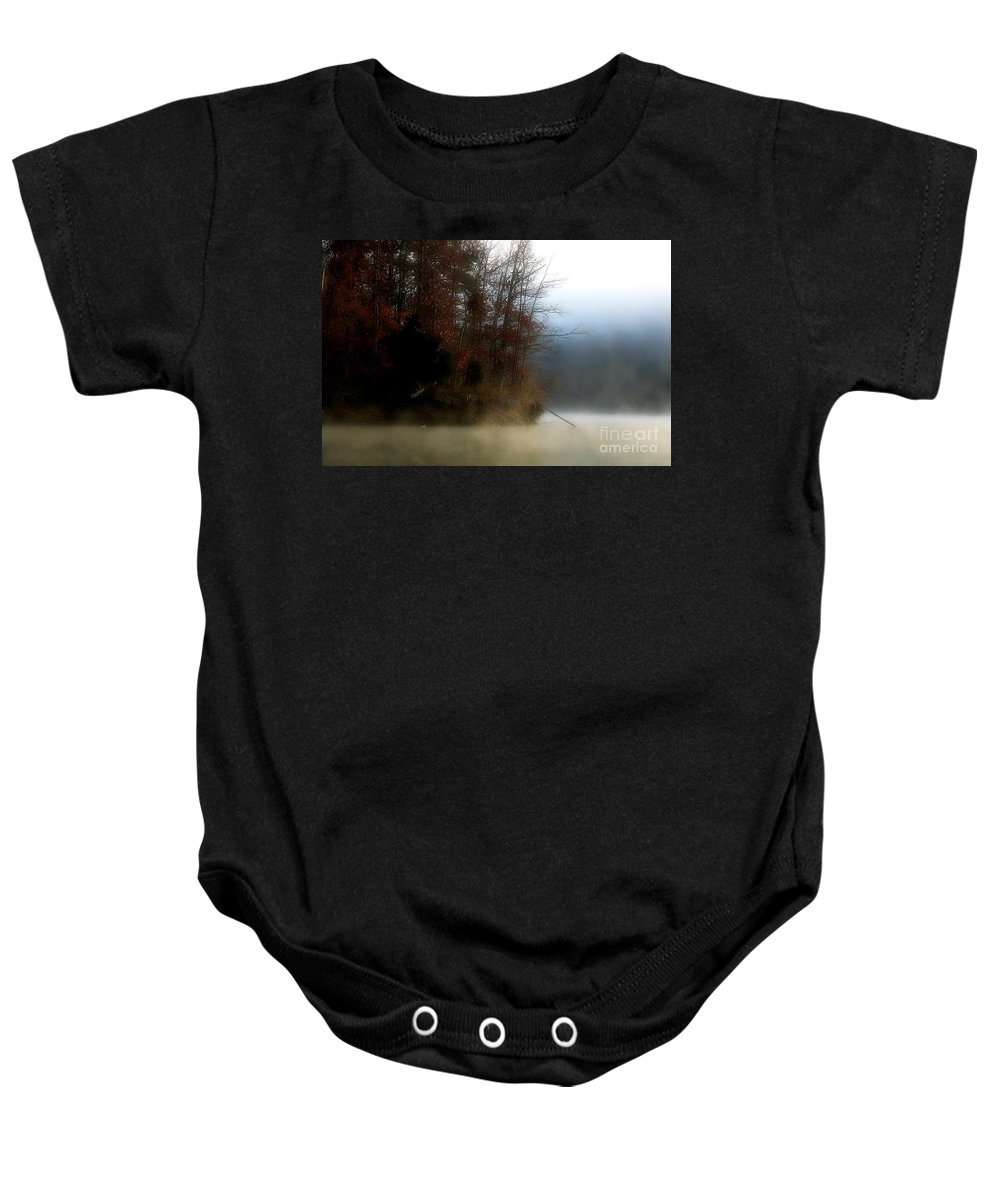 Lake Baby Onesie featuring the photograph Fall On Melton Hill Lake II by Douglas Stucky