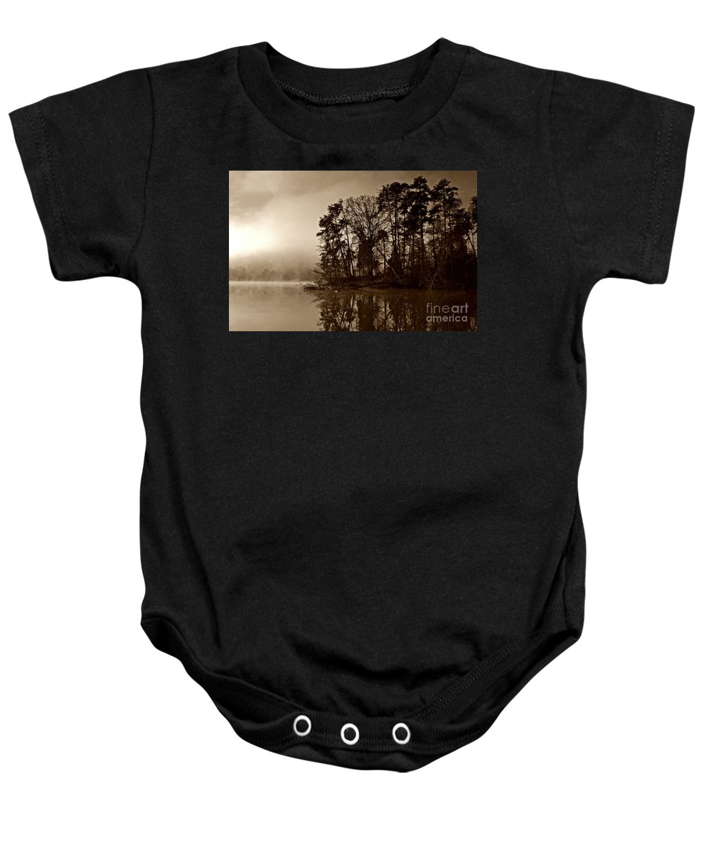 Lake Baby Onesie featuring the photograph Fall On Melton Hill Lake V by Douglas Stucky