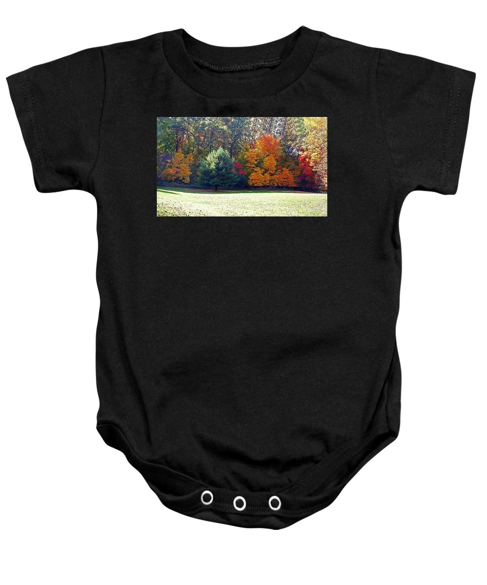 Autumn Baby Onesie featuring the photograph Fantastic Fall by Aimee L Maher ALM GALLERY