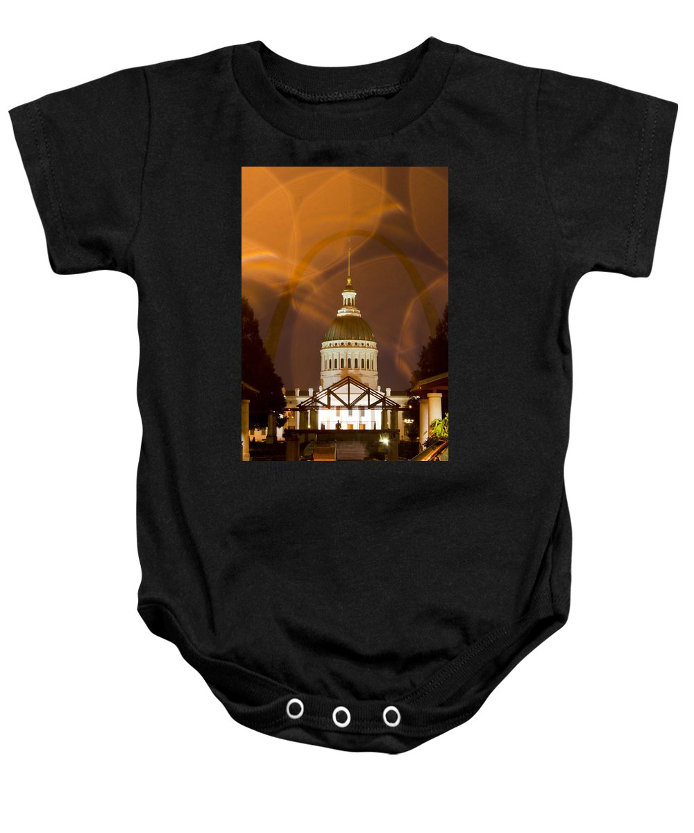Historic Federal Courthouse Baby Onesie featuring the photograph Federal Courthouse St Louis by Garry McMichael