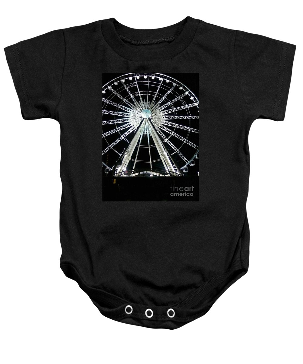 Art Baby Onesie featuring the photograph Ferris Wheel 10 by Michelle Powell