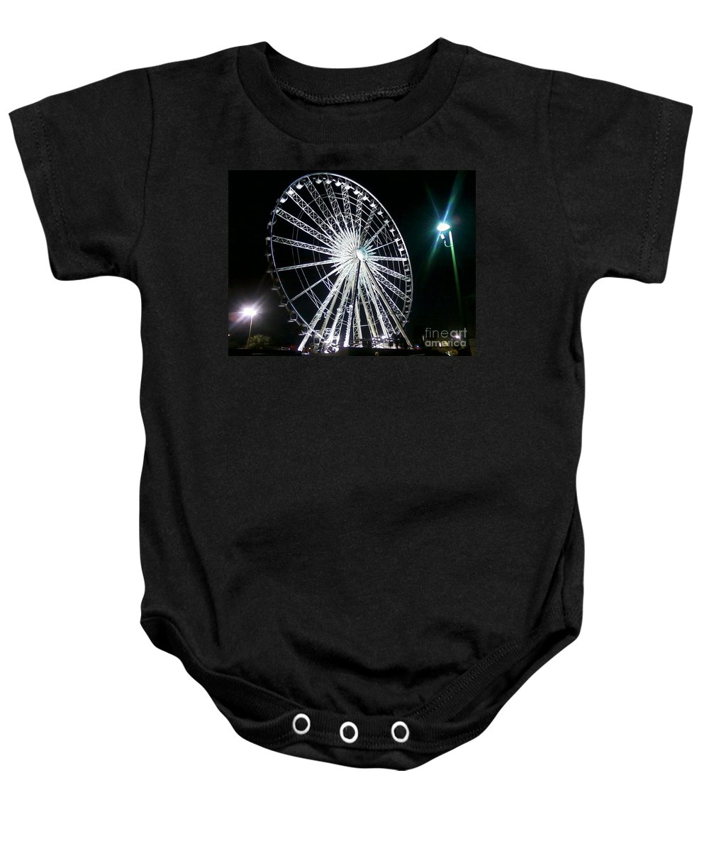Art Baby Onesie featuring the photograph Ferris Wheel 11 by Michelle Powell