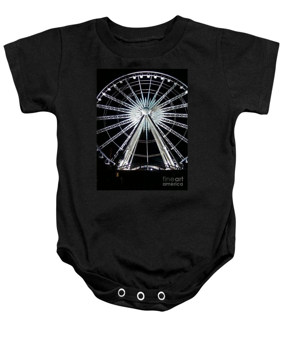 Art Baby Onesie featuring the photograph Ferris Wheel 7 by Michelle Powell