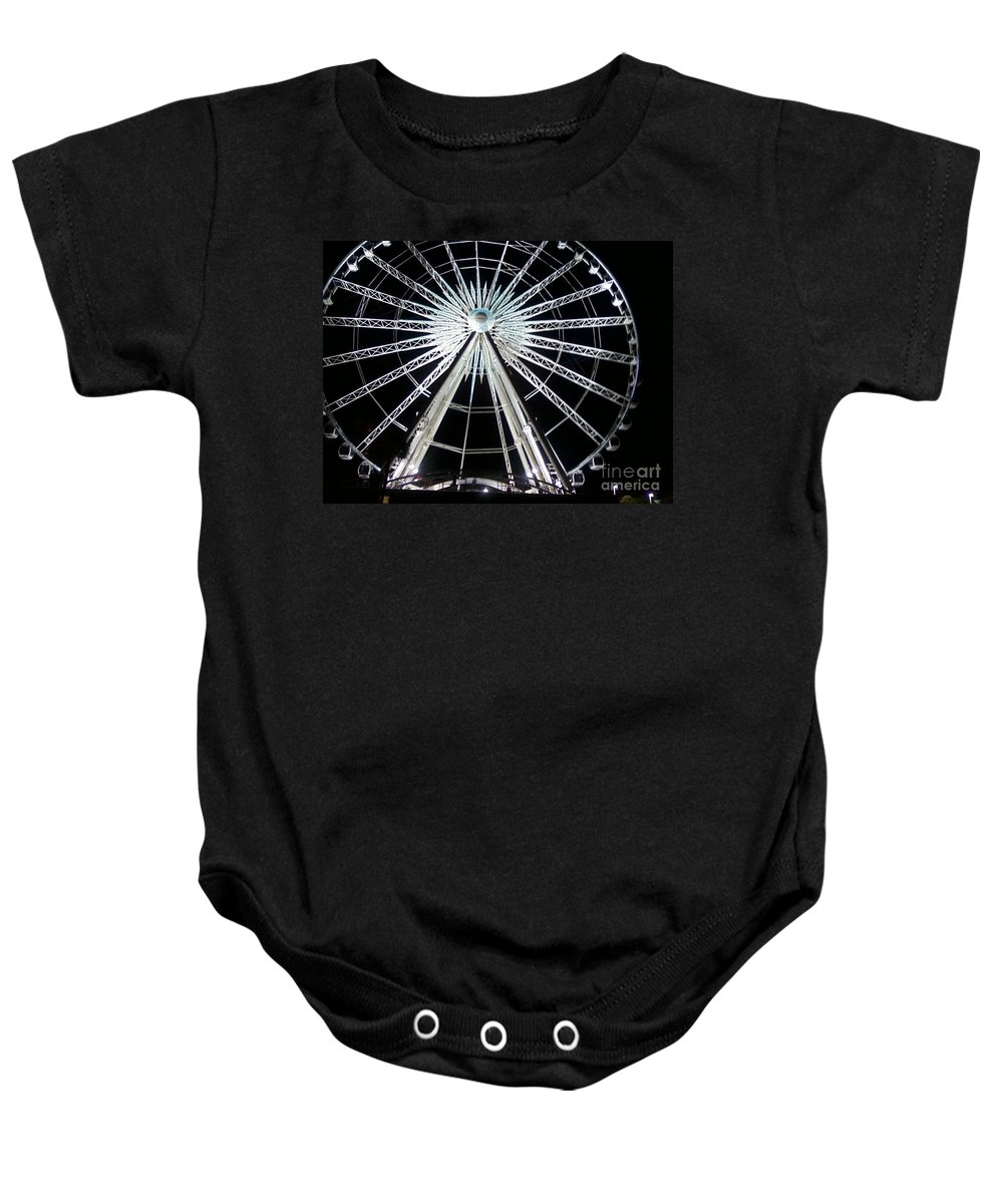 Art Baby Onesie featuring the photograph Ferris Wheel 8 by Michelle Powell