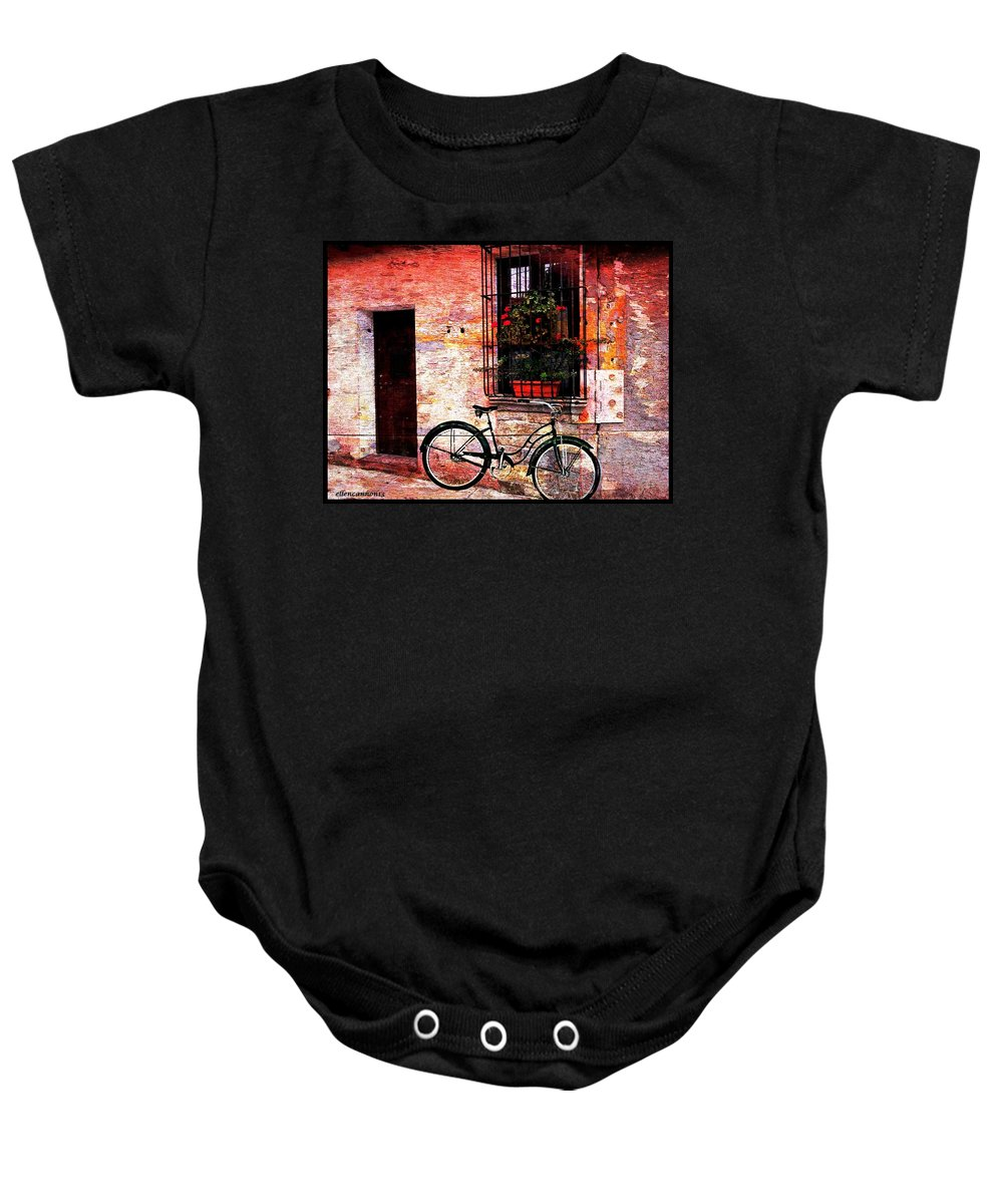 Bicycle Baby Onesie featuring the photograph Find Your Balance by Ellen Cannon
