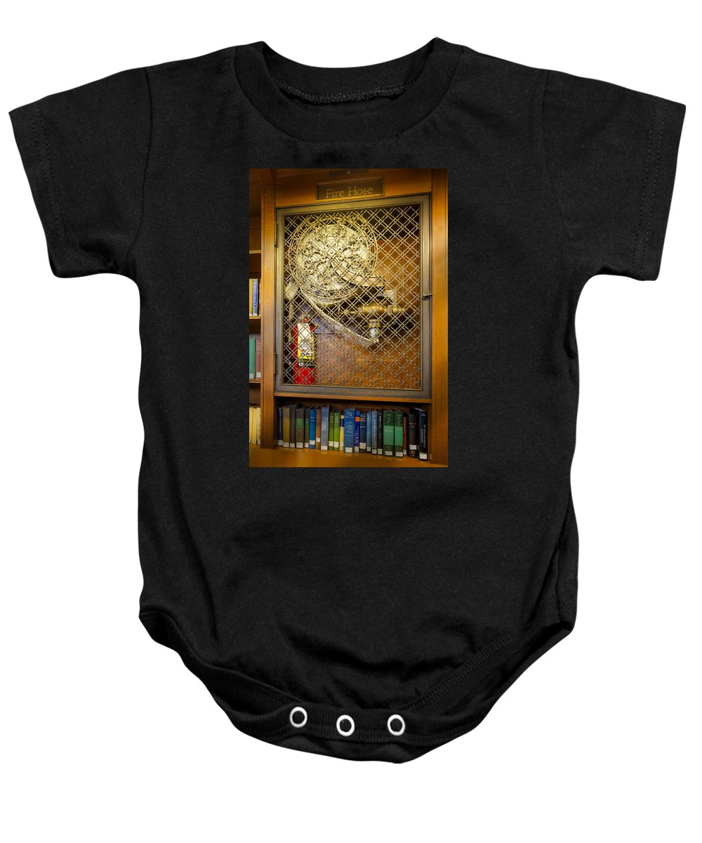 Fdny Baby Onesie featuring the photograph Fire Hose by Susan Candelario
