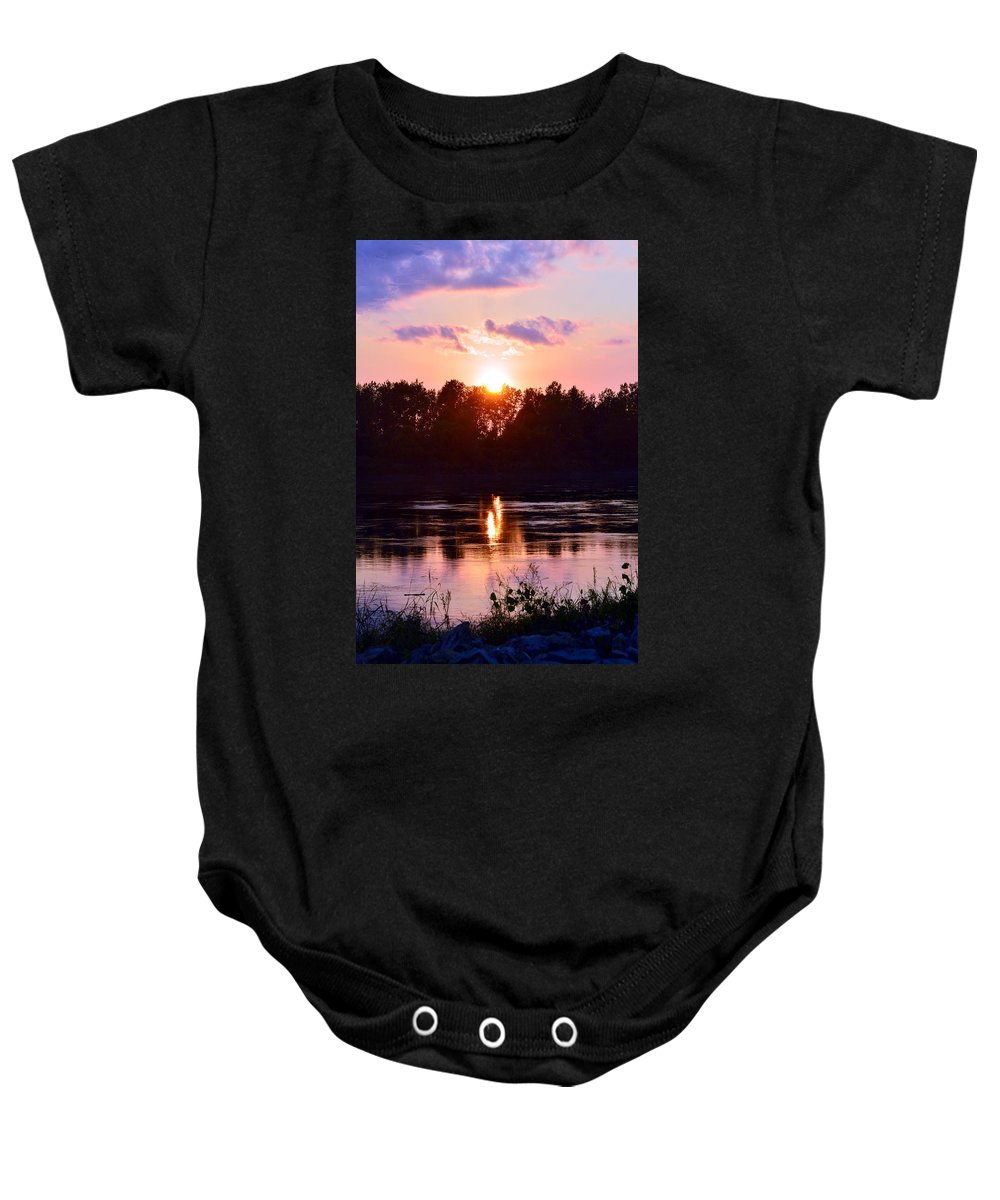 Baby Onesie featuring the photograph Fire Water by Kim Blaylock