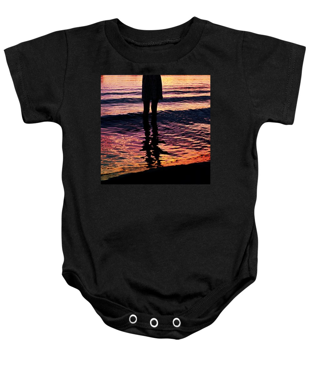 Water Baby Onesie featuring the photograph Fire Water by Laura Fasulo
