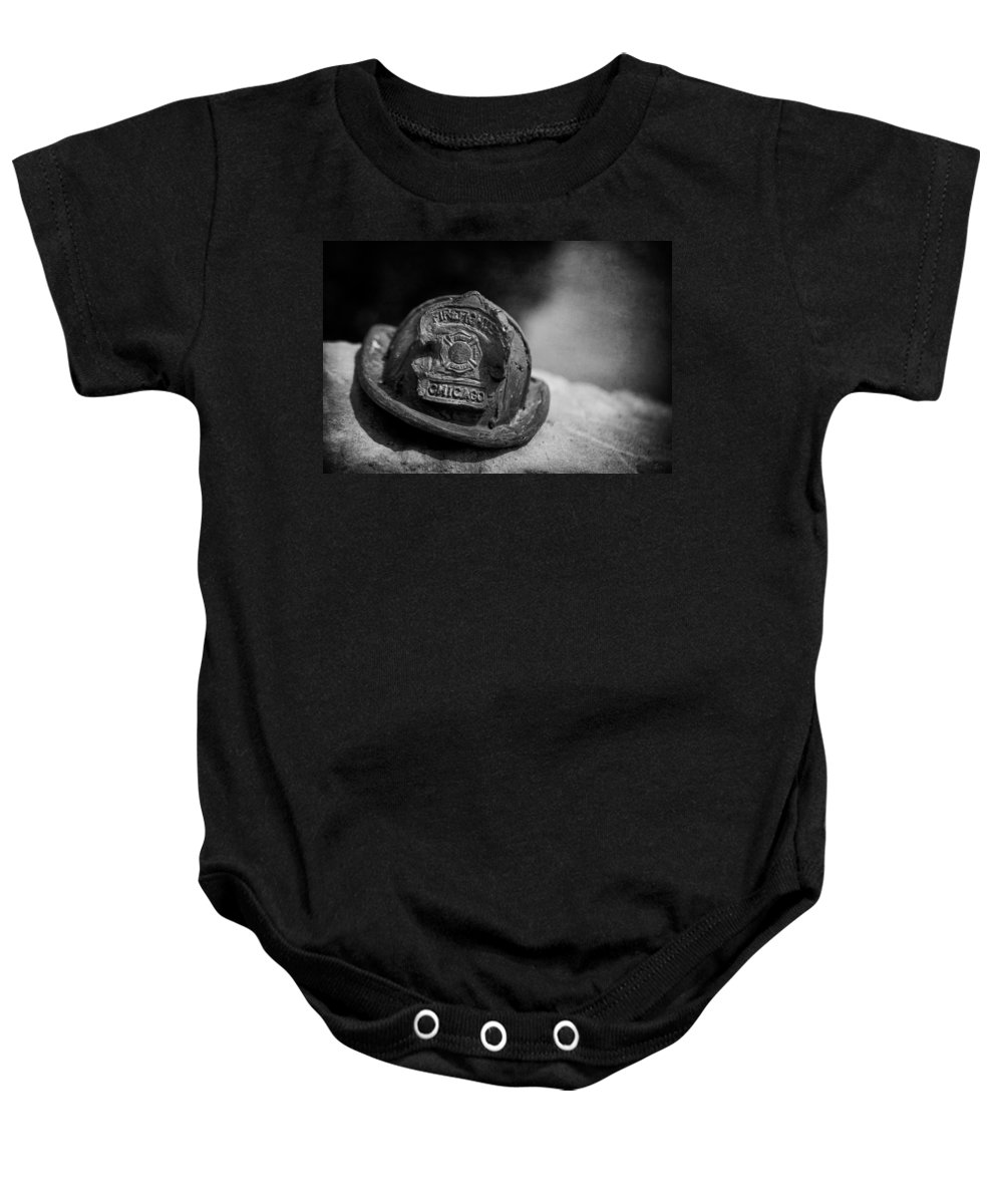 Chicago Fireman Memorial Baby Onesie featuring the photograph Firefighter by F Icarus