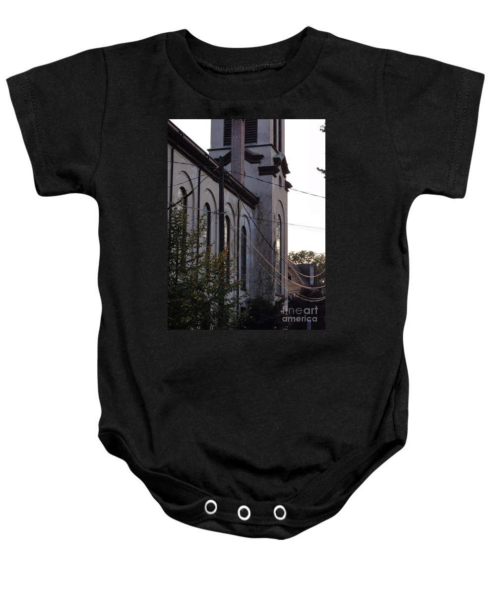 Church Baby Onesie featuring the photograph First Centenary Methodist by Christopher Plummer