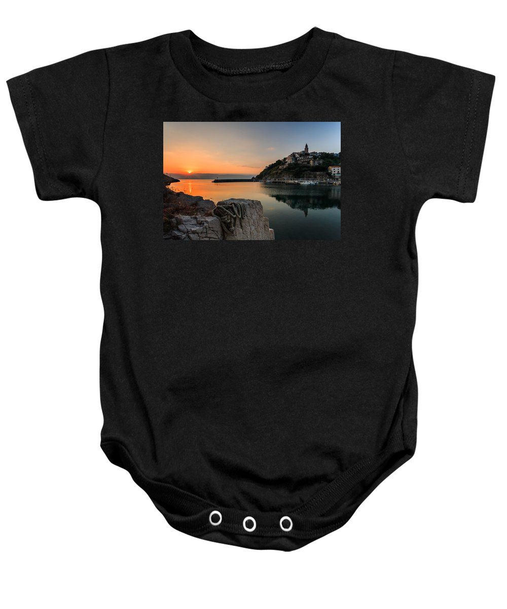 Landscapes Baby Onesie featuring the photograph First Light by Davorin Mance