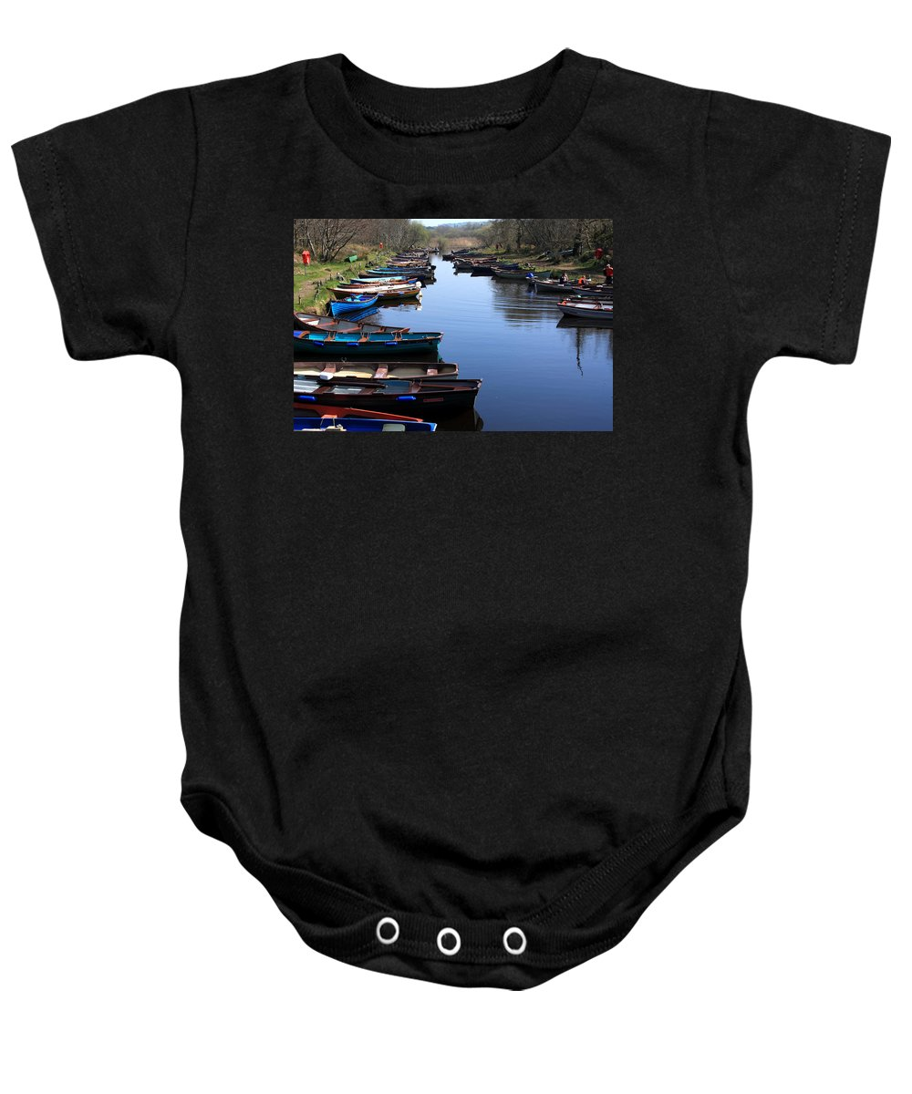 Ireland Baby Onesie featuring the photograph Fishing Boat Row by Aidan Moran