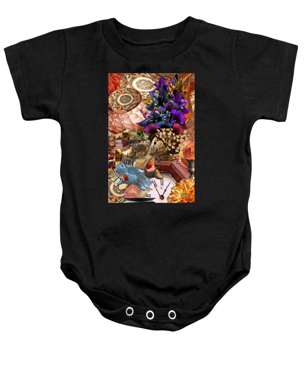 Flowers Baby Onesie featuring the digital art Five To One by Paul Gentille