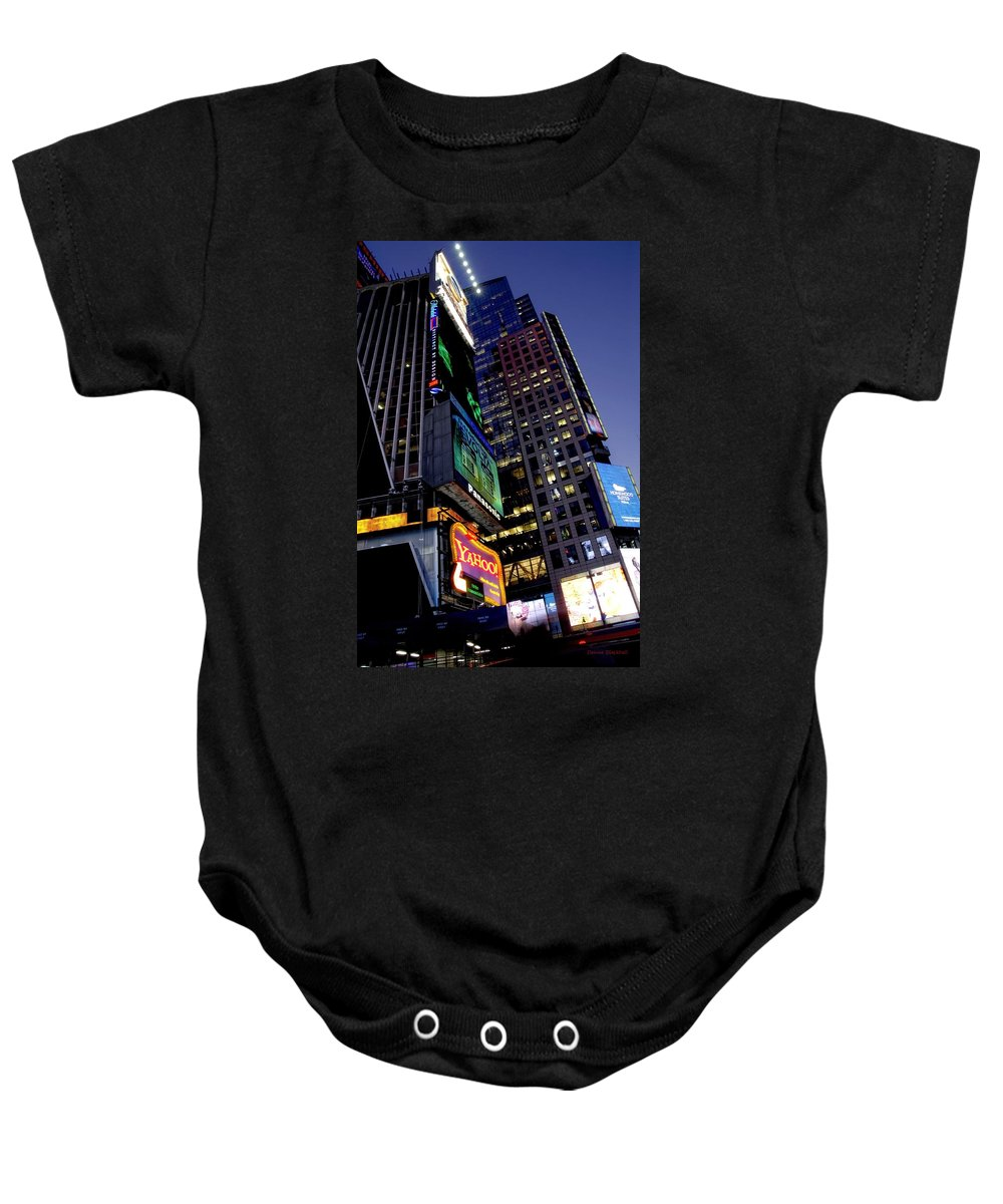 New York Baby Onesie featuring the photograph Flash by Donna Blackhall