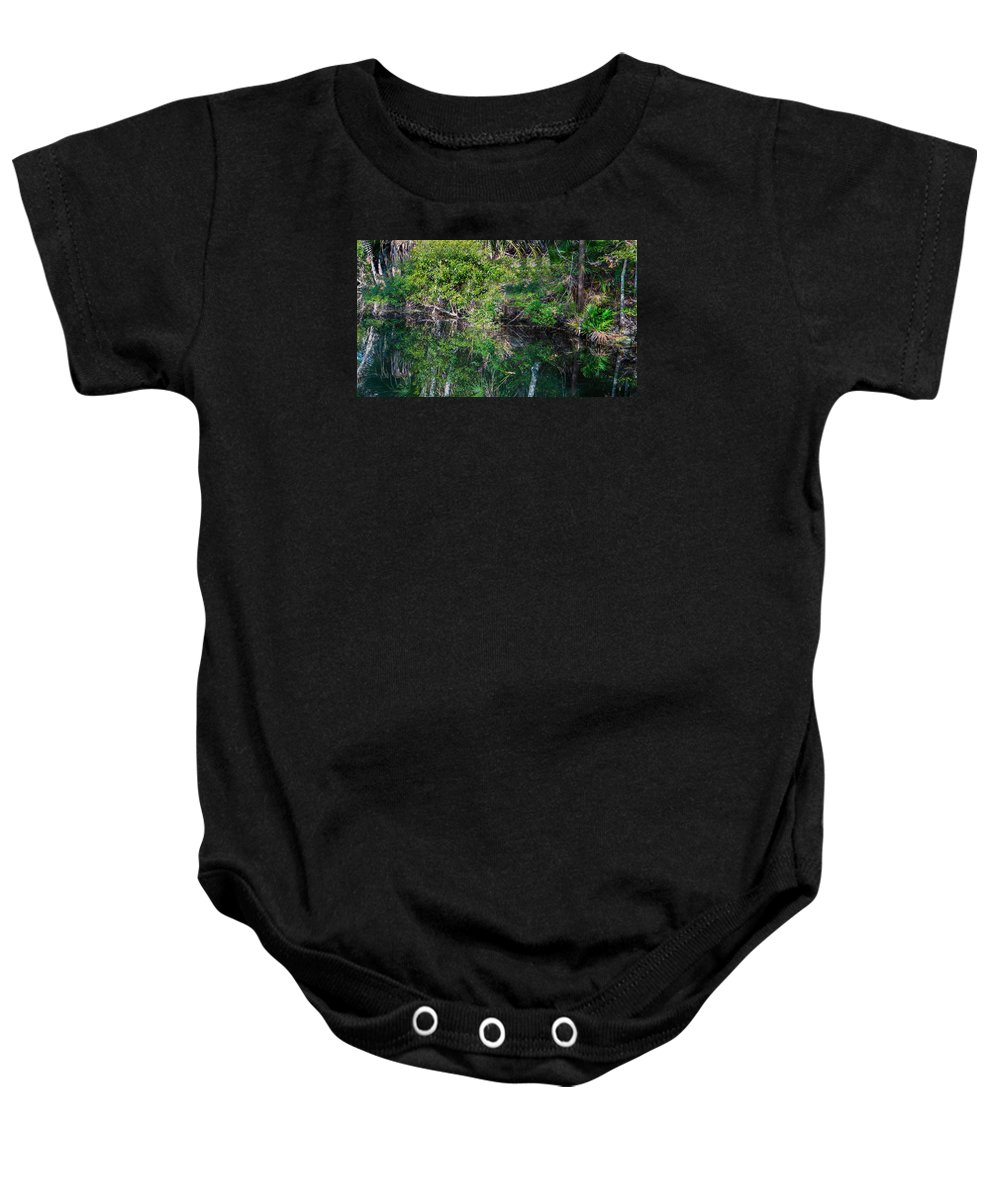 Lake Baby Onesie featuring the photograph Florida River by Dennis Dugan