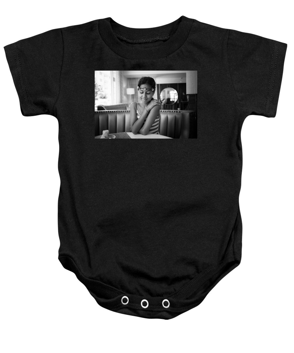 Radha Baby Onesie featuring the photograph Flower Girl by Ferry Zievinger