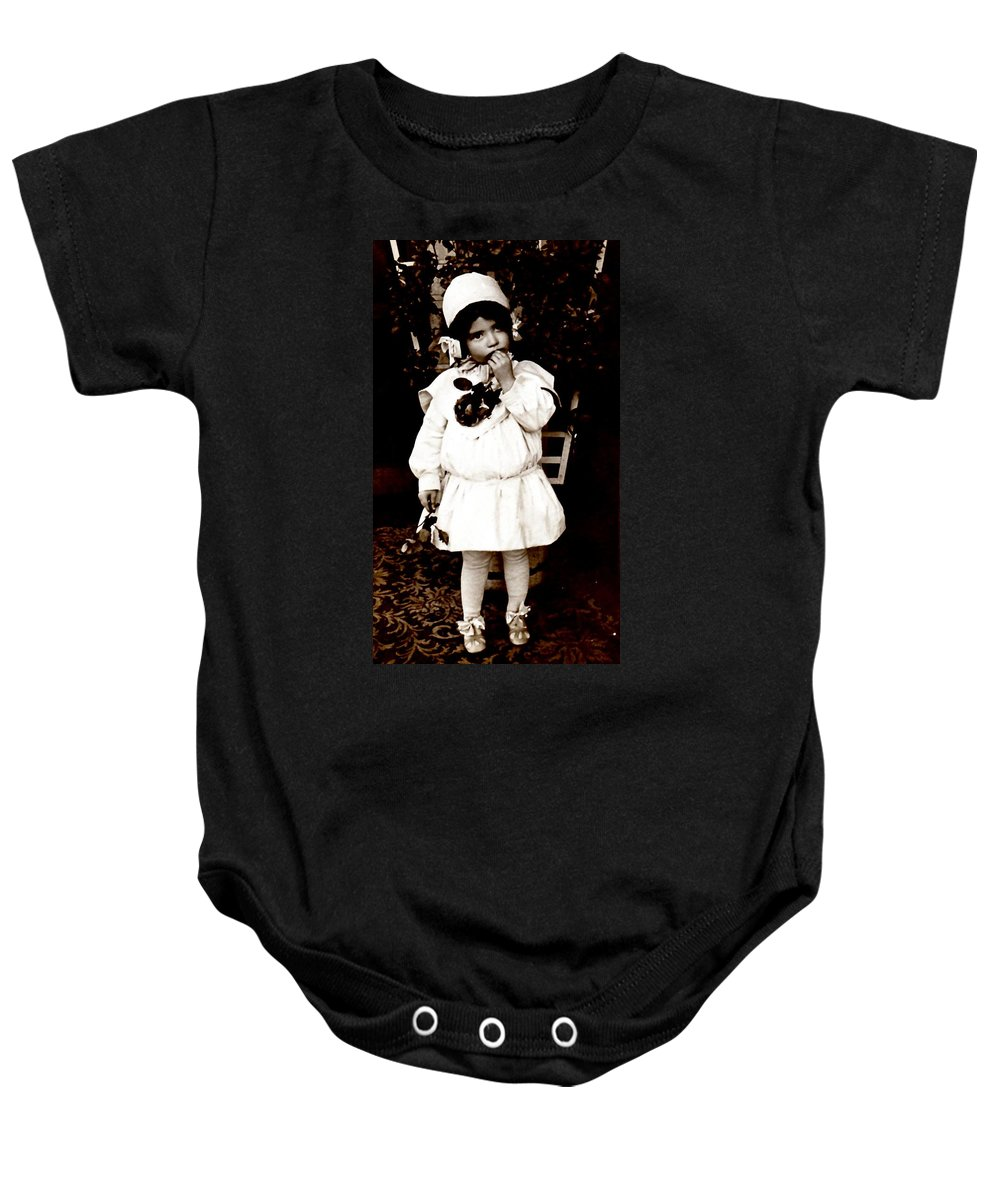 Vintage Baby Onesie featuring the photograph Flower Girl by Image Takers Photography LLC