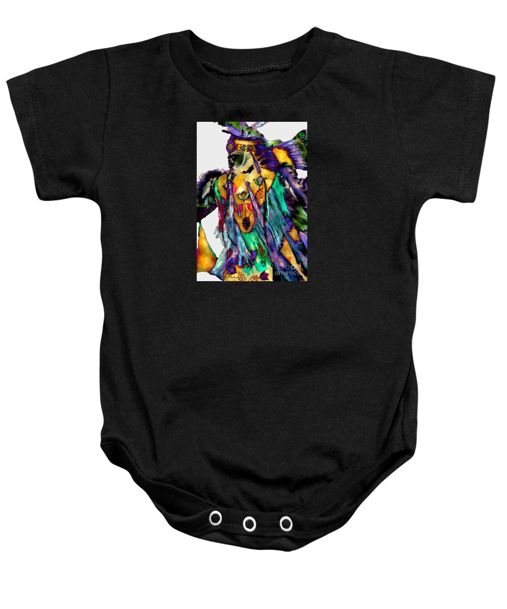Abstract Baby Onesie featuring the photograph Flowing Feathers by Linda Parker