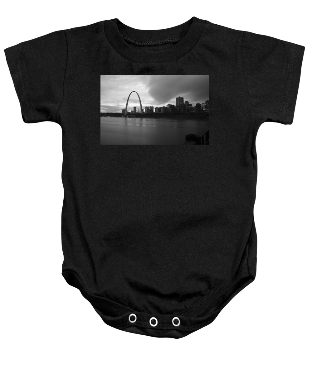 St. Louis Baby Onesie featuring the photograph Flows by Scott Rackers