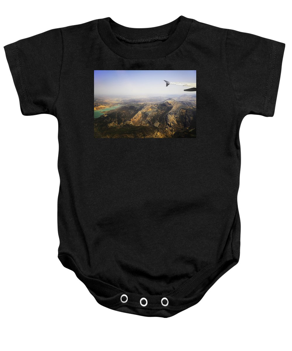 Spain Baby Onesie featuring the photograph Flying Over Spanish Land I by Jenny Rainbow