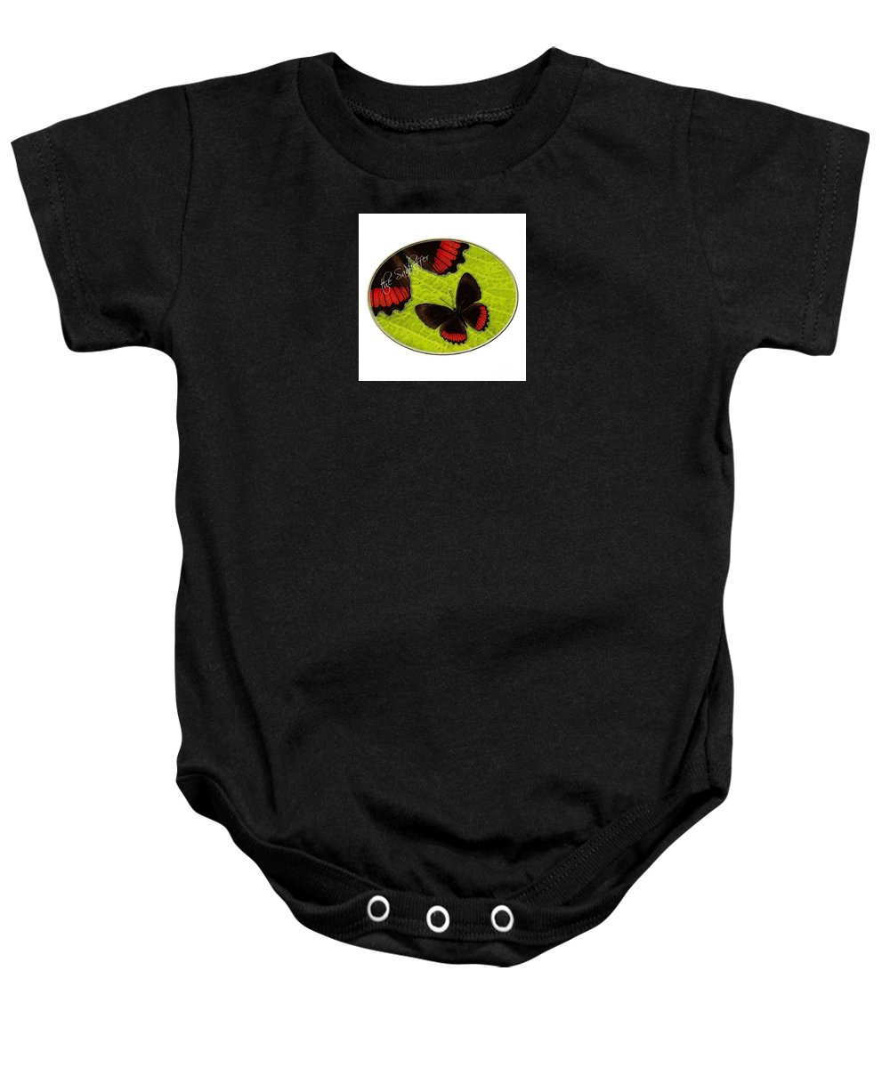Green Baby Onesie featuring the digital art Follow The Legends by The Sankoffer