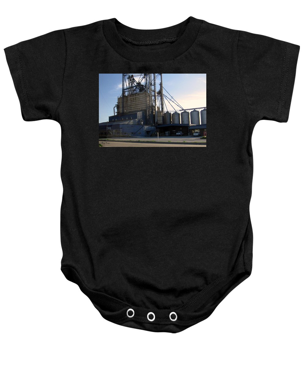 Food Mill Baby Onesie featuring the photograph Food Mill Valley View Texas by Amy Hosp