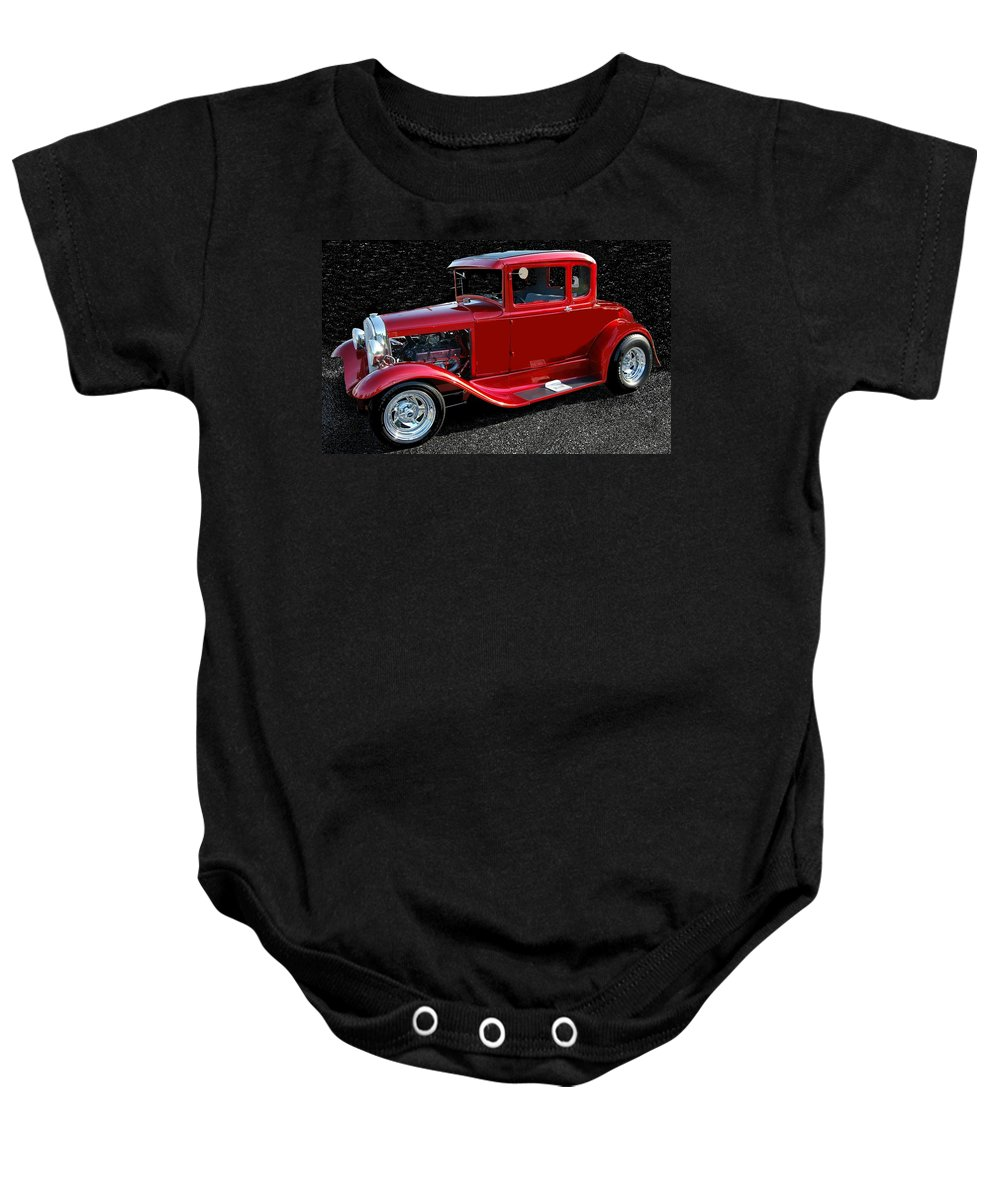 Ford Baby Onesie featuring the mixed media Ford Out Of This World by Eric Liller