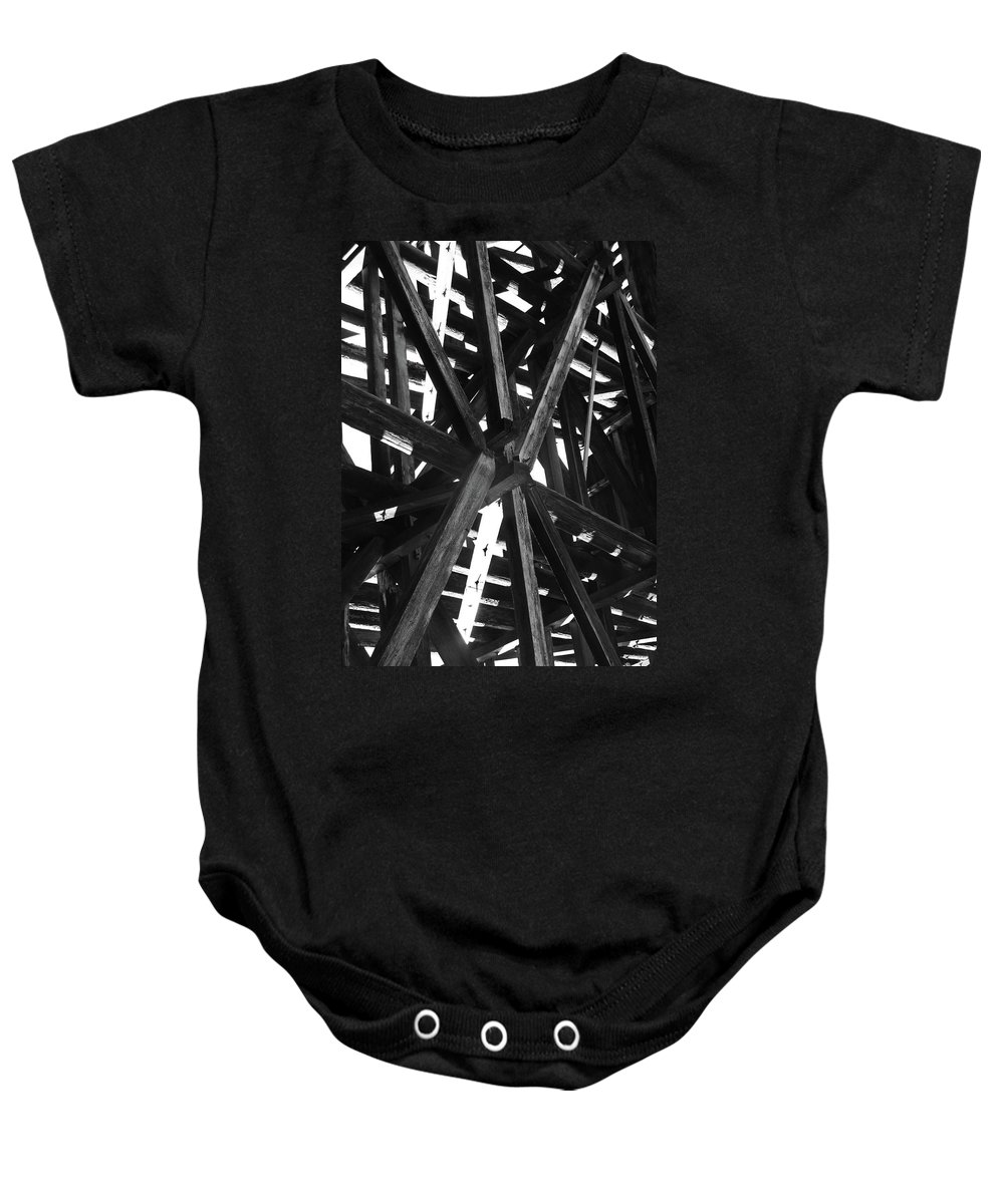Abstract Baby Onesie featuring the photograph Form And Function 4 by Xueling Zou