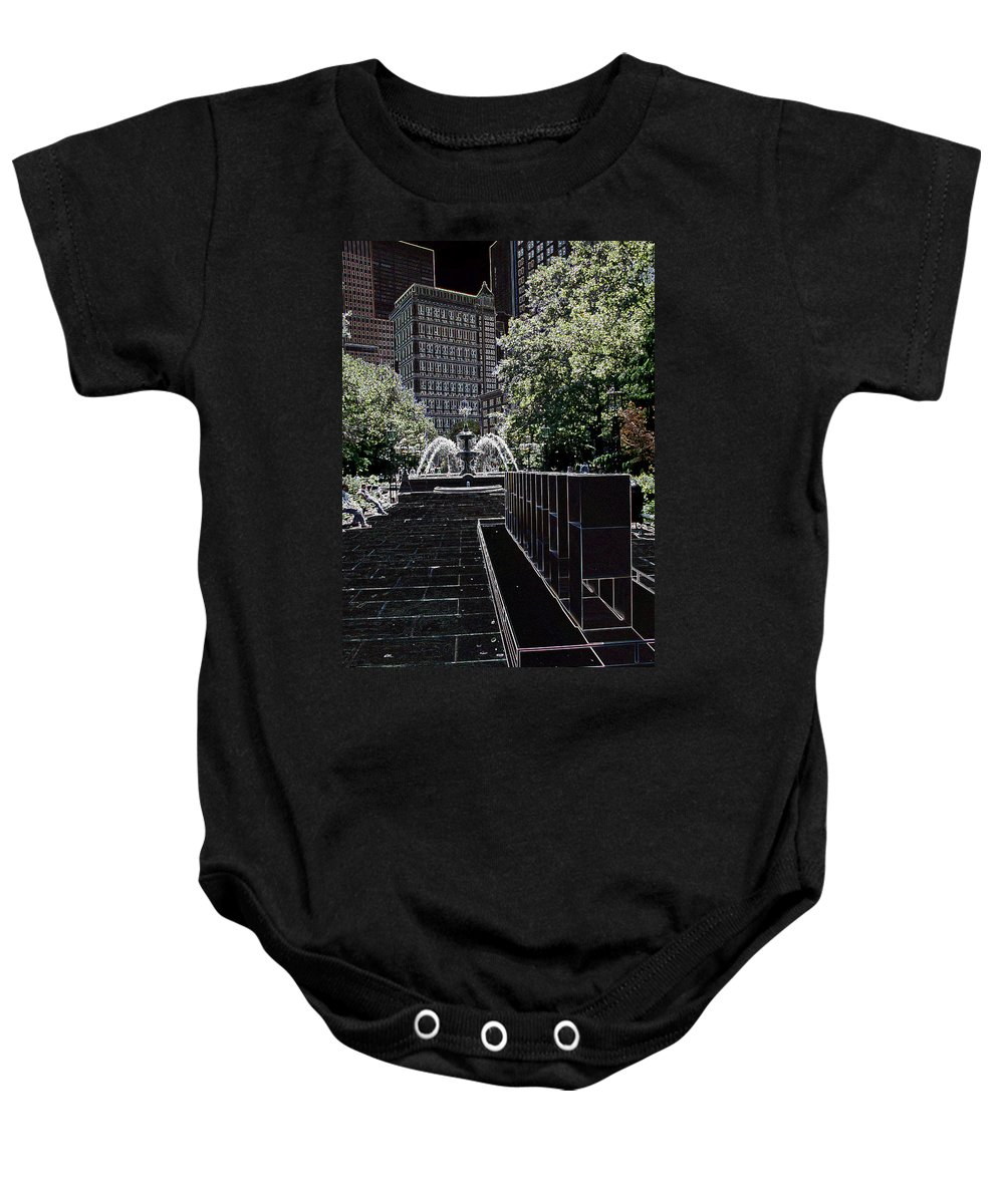 Fountain Baby Onesie featuring the photograph Fountain Abstract by Christiane Schulze Art And Photography