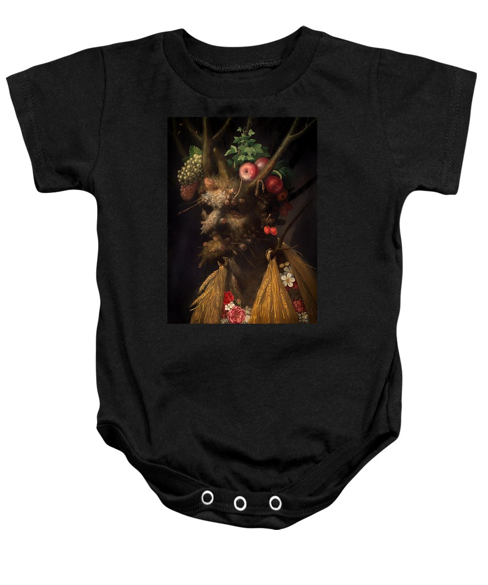 Painting Baby Onesie featuring the painting Four Seasons In One Head by Mountain Dreams