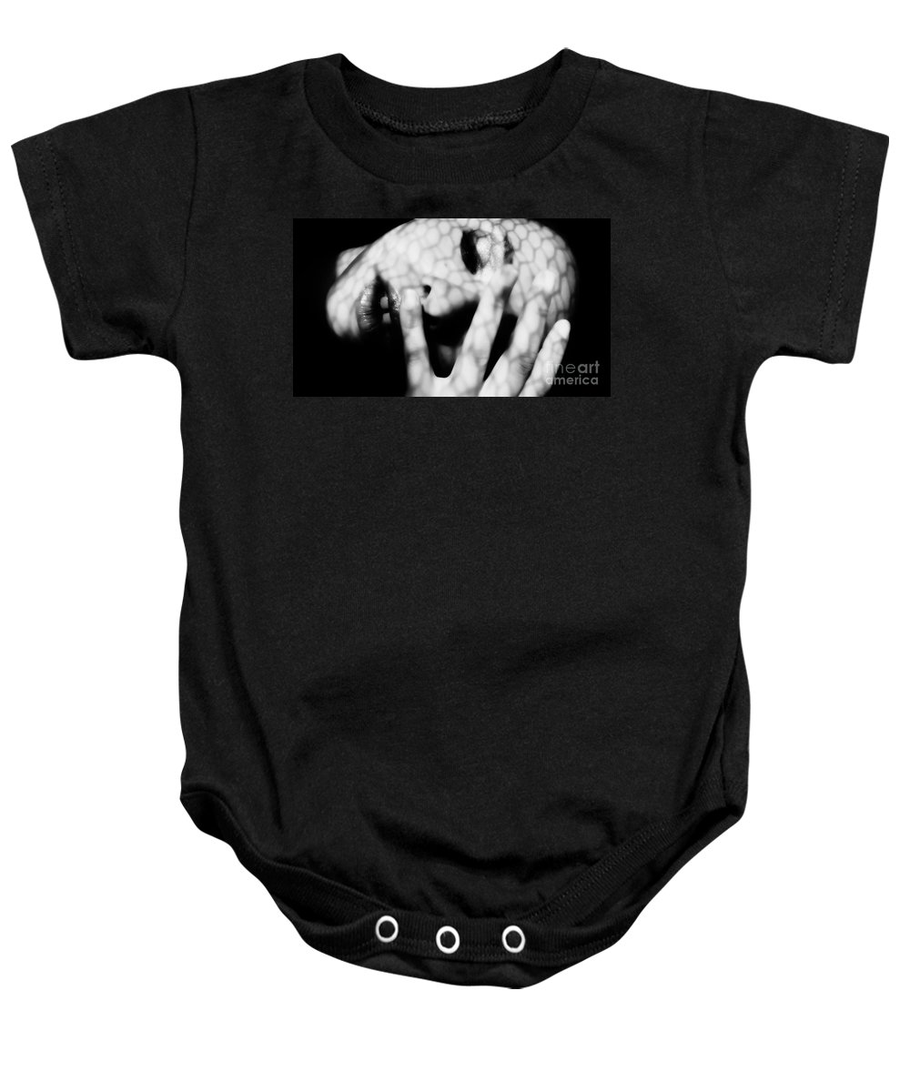Black Baby Onesie featuring the photograph Fourfold by Jessica Shelton