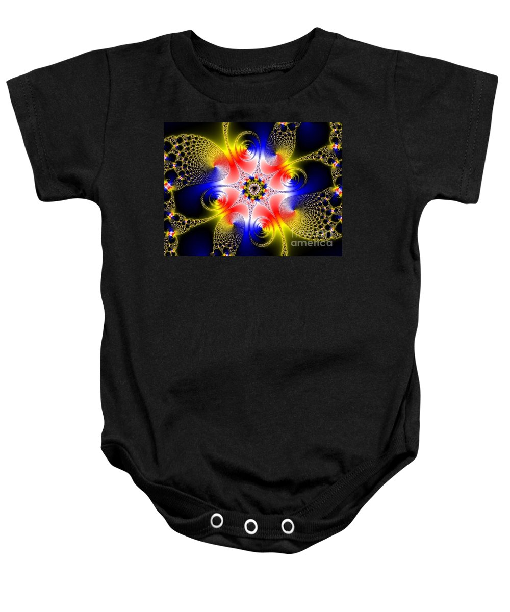 Baby Onesie featuring the digital art Fractal 8 by Taylor Webb