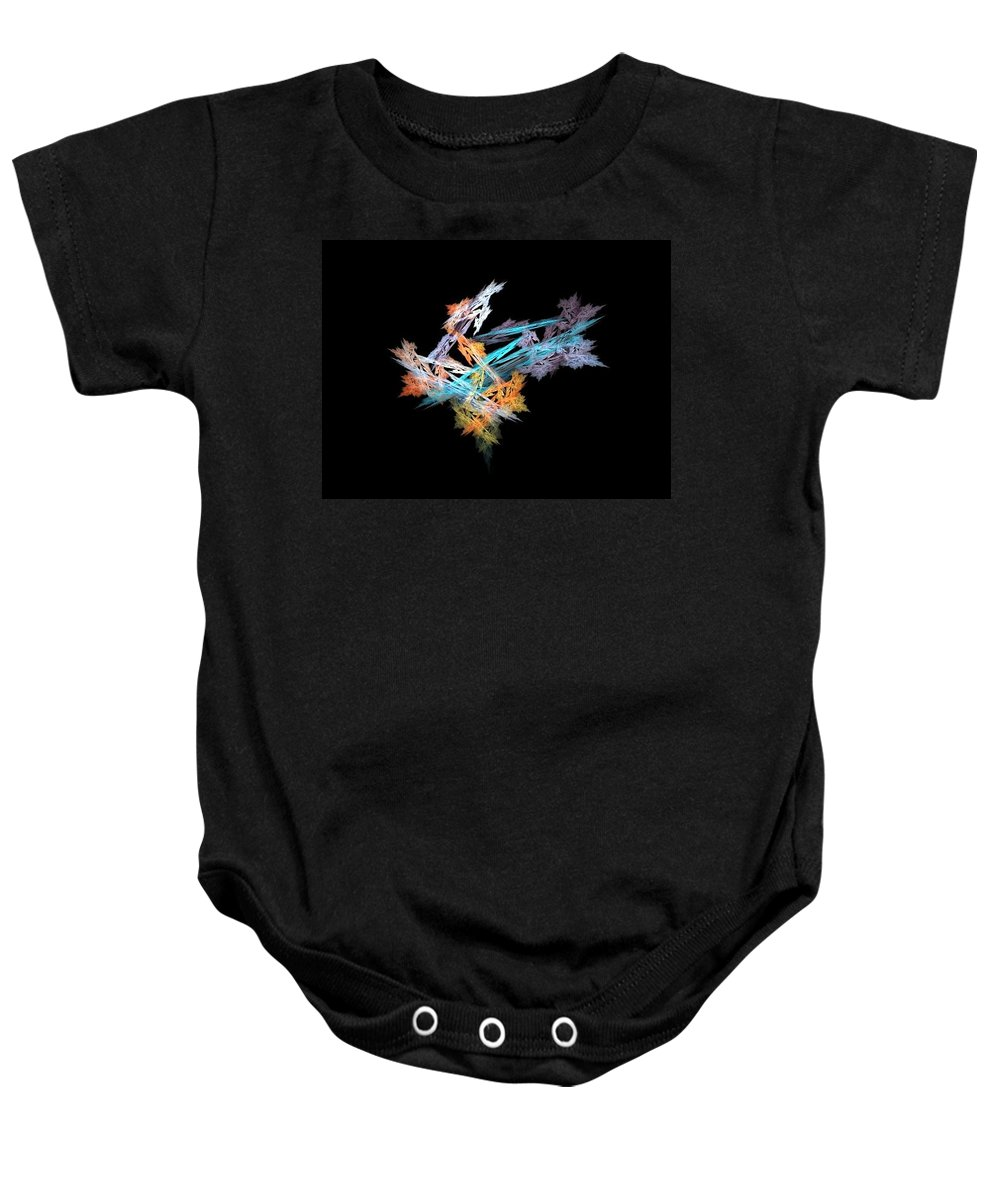 Fractal Baby Onesie featuring the painting Fractal Flower Mobile by Bruce Nutting