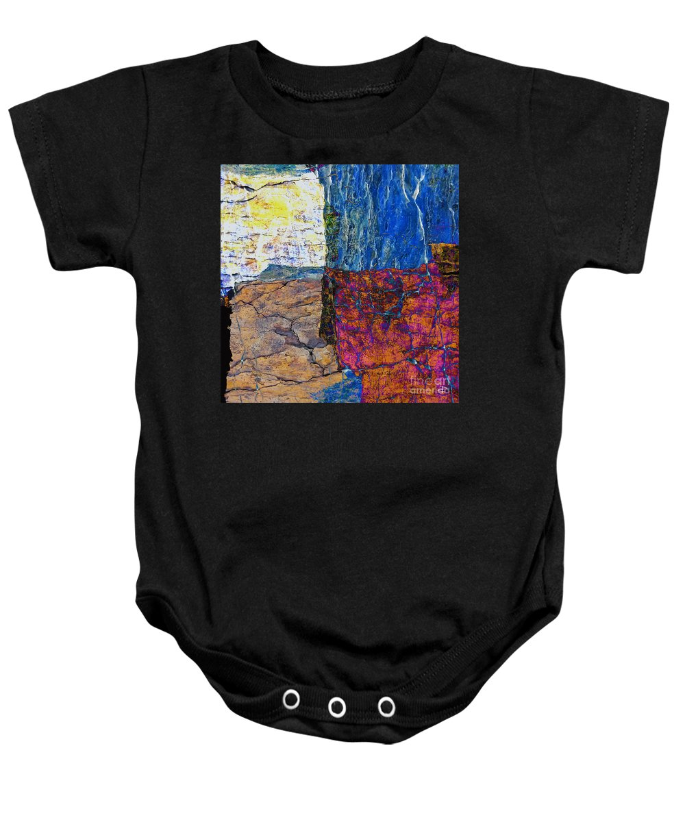 Fracture Baby Onesie featuring the photograph Fracture Section Xvii by Paul Davenport