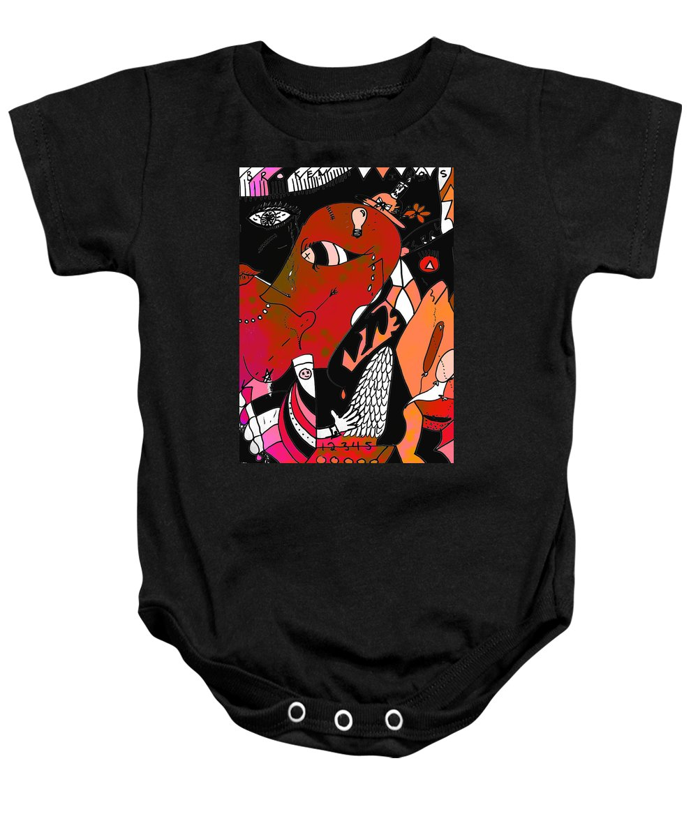 Abstract Baby Onesie featuring the photograph Frailty Of Festive by The Artist Project