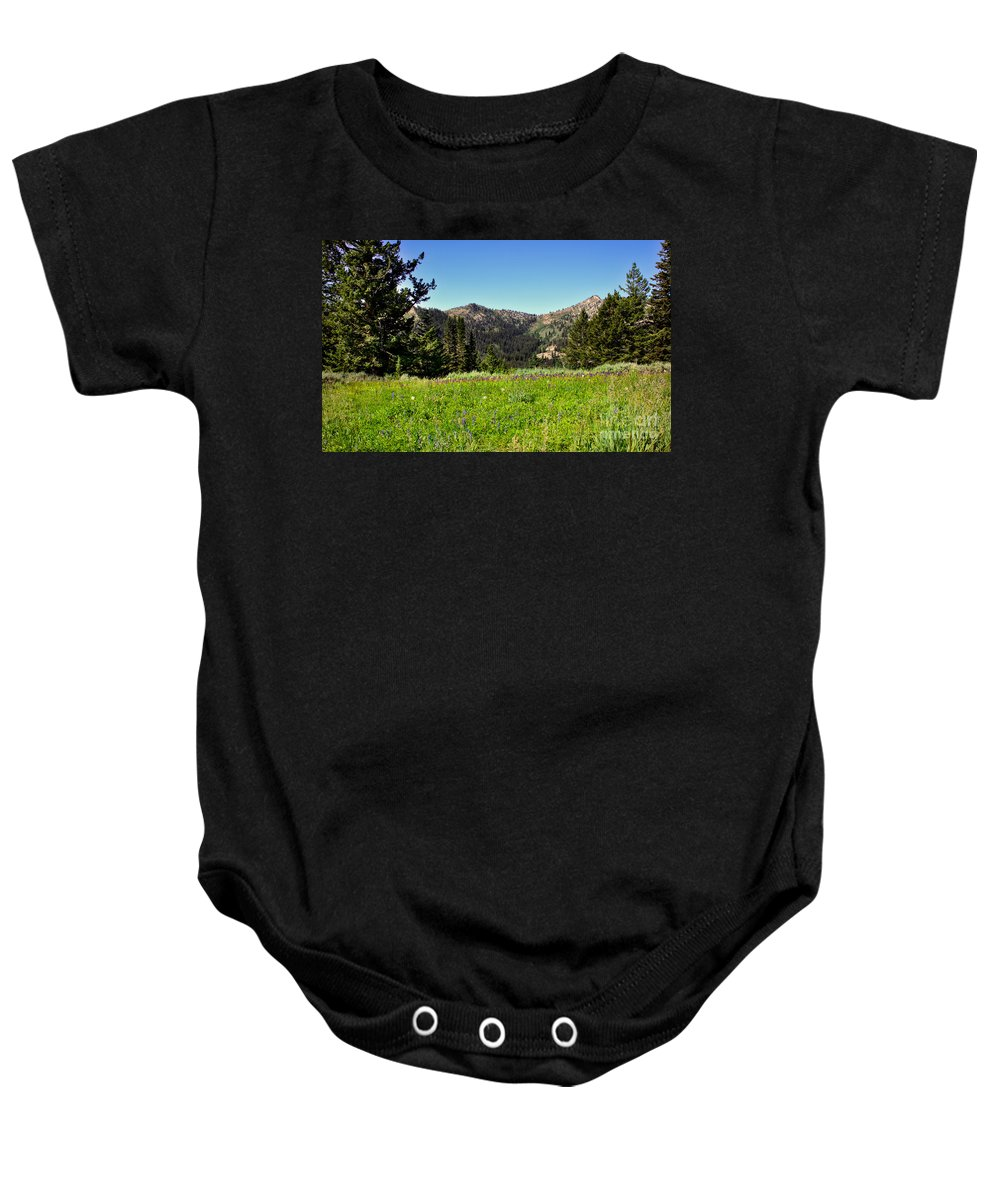 Southwest Idaho Baby Onesie featuring the photograph Framed Mountain Landscape by Robert Bales