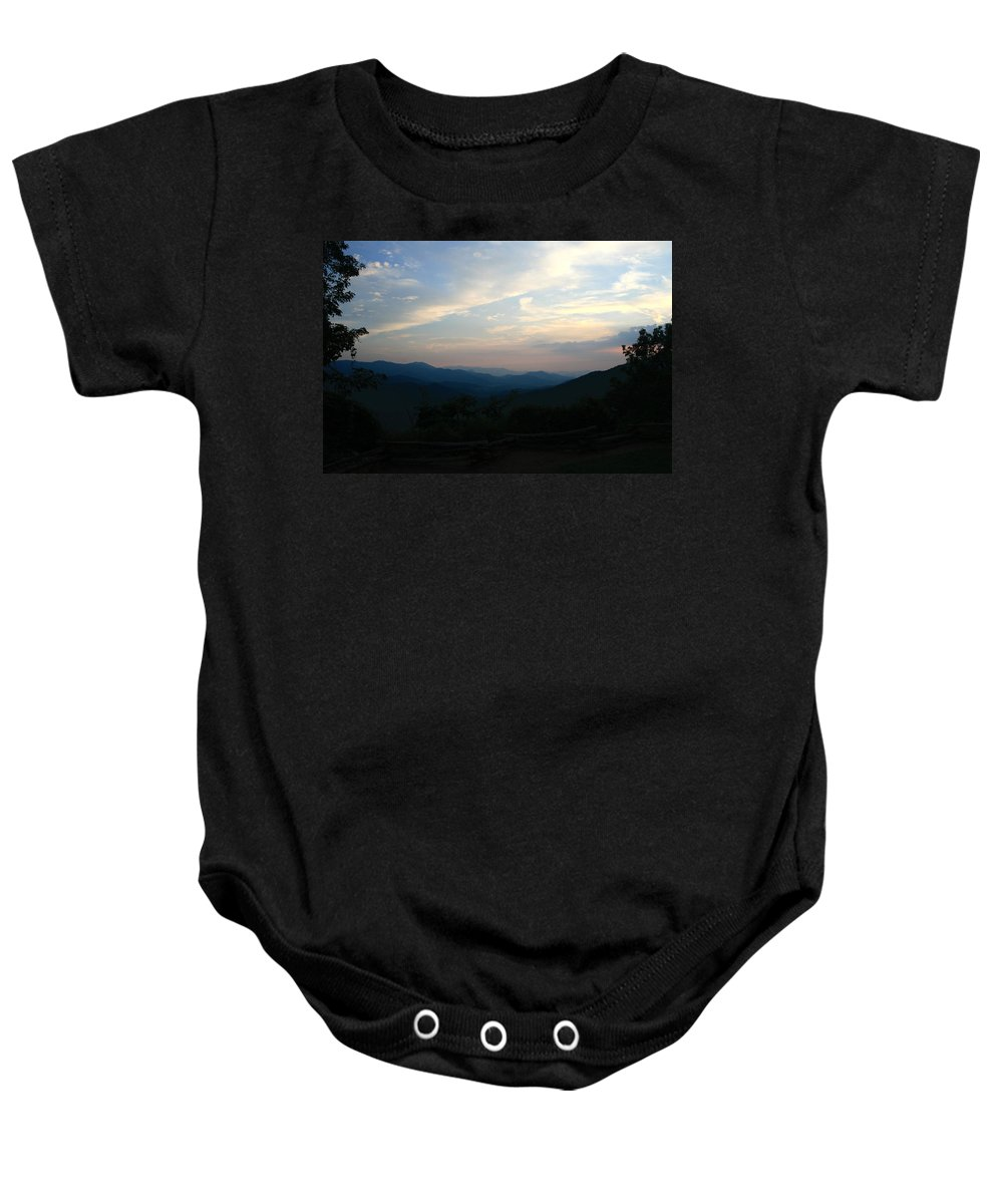 Sunset Baby Onesie featuring the photograph Franklin Sunset by Shirley Roberson