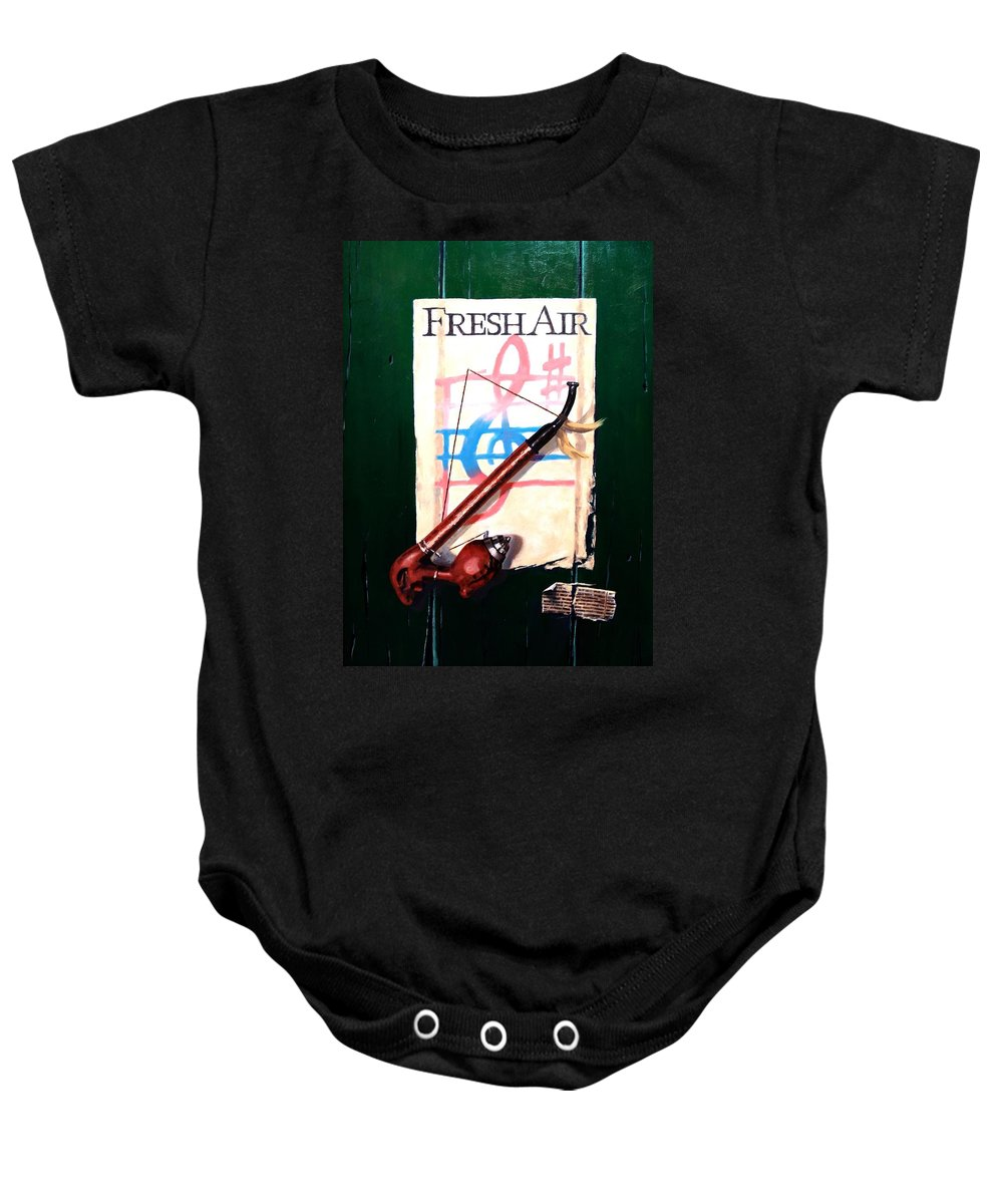Still Life Baby Onesie featuring the painting Fresh Air by Jim Gola