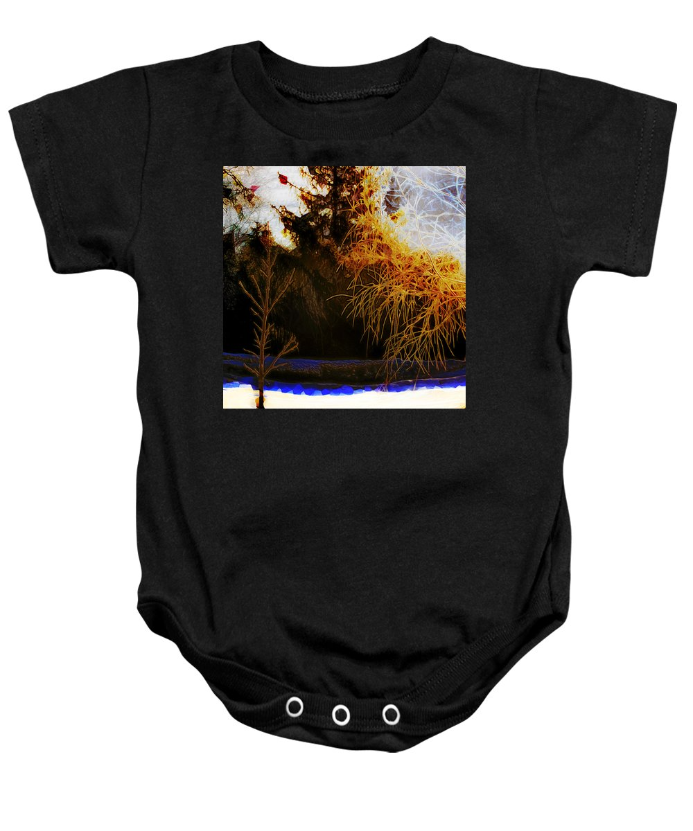 Winter Baby Onesie featuring the photograph Frosty Winter Morning by Hal Halli
