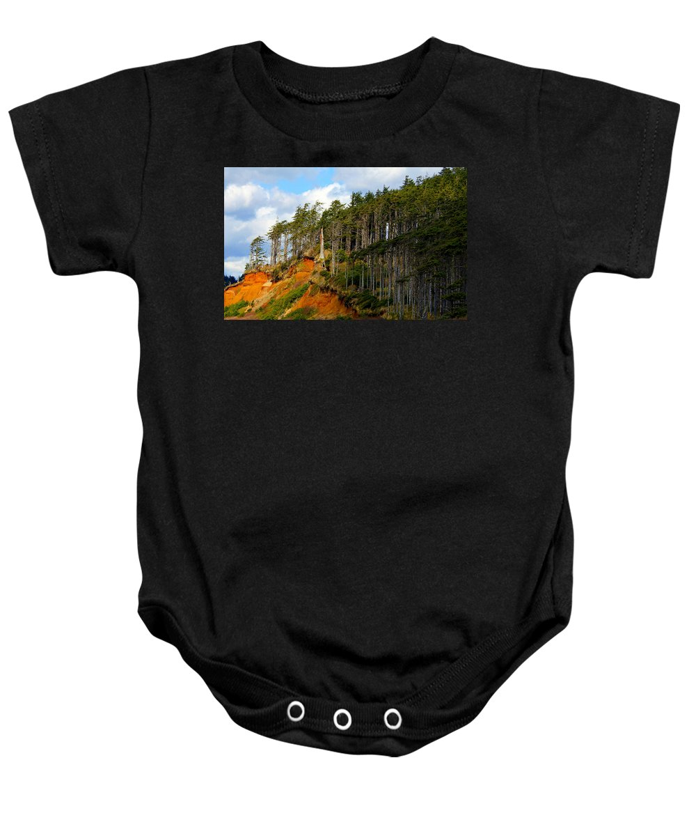 Landscape Baby Onesie featuring the photograph Frozen In Time by Jeanette C Landstrom