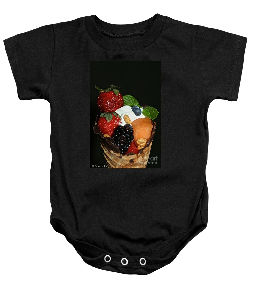 Fruit Baby Onesie featuring the photograph Fruit Flavor by Susan Herber