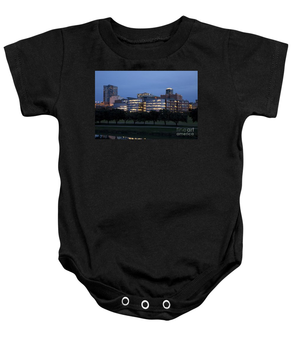 Pioneers Baby Onesie featuring the photograph Ft. Worth Texas Skyline by Greg Kopriva