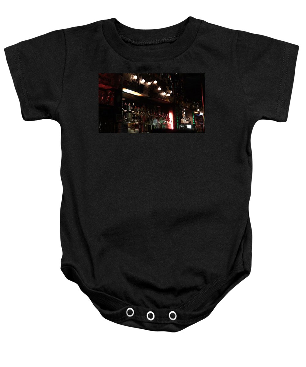 Bar Baby Onesie featuring the photograph Full Bottle Empty by Birdie Garcia