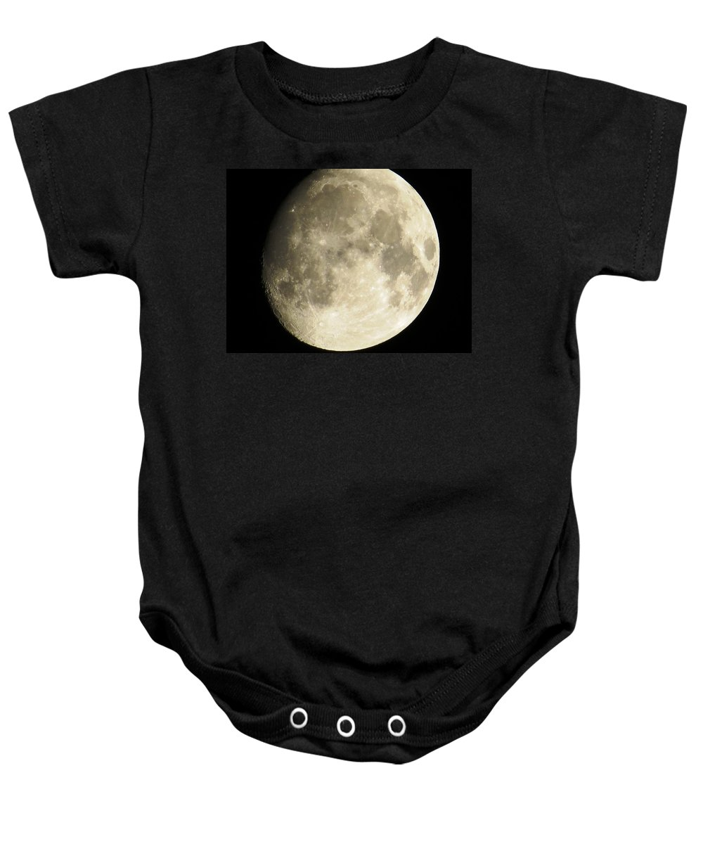 Planet Baby Onesie featuring the photograph Full Moon by Aaron Martens
