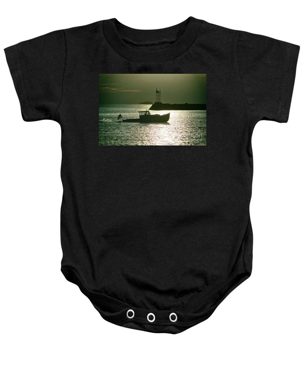 Boat Baby Onesie featuring the photograph Fun Run by Joe Geraci
