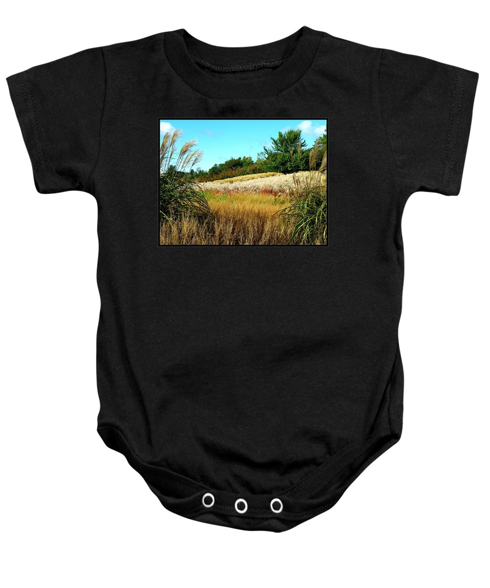 Photo Baby Onesie featuring the photograph Furry Hill by Tim Fillingim