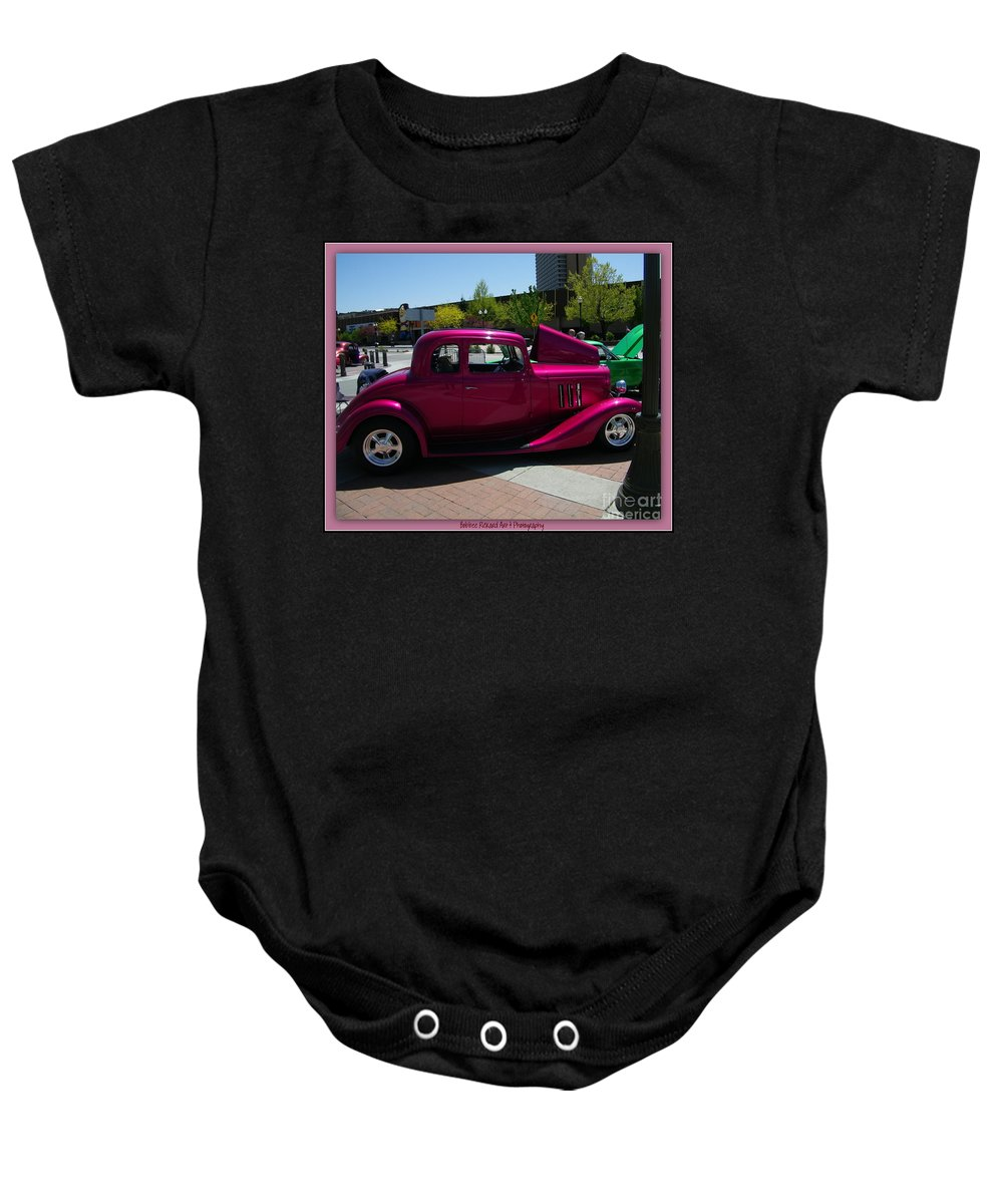 Classic Prints Baby Onesie featuring the photograph Fuschia Fusion by Bobbee Rickard