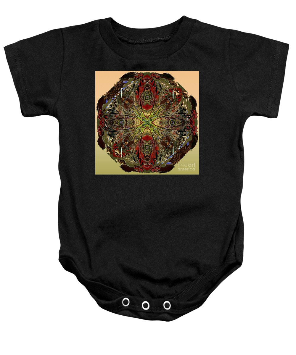 Flower Baby Onesie featuring the digital art Fusion by Paul Gentille