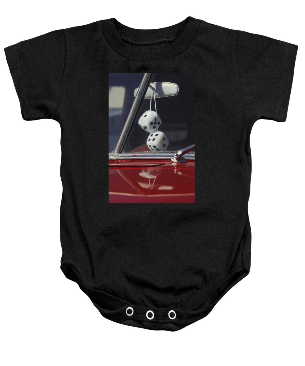 Fuzzy Dice Baby Onesie featuring the photograph Fuzzy Dice 2 by Jill Reger
