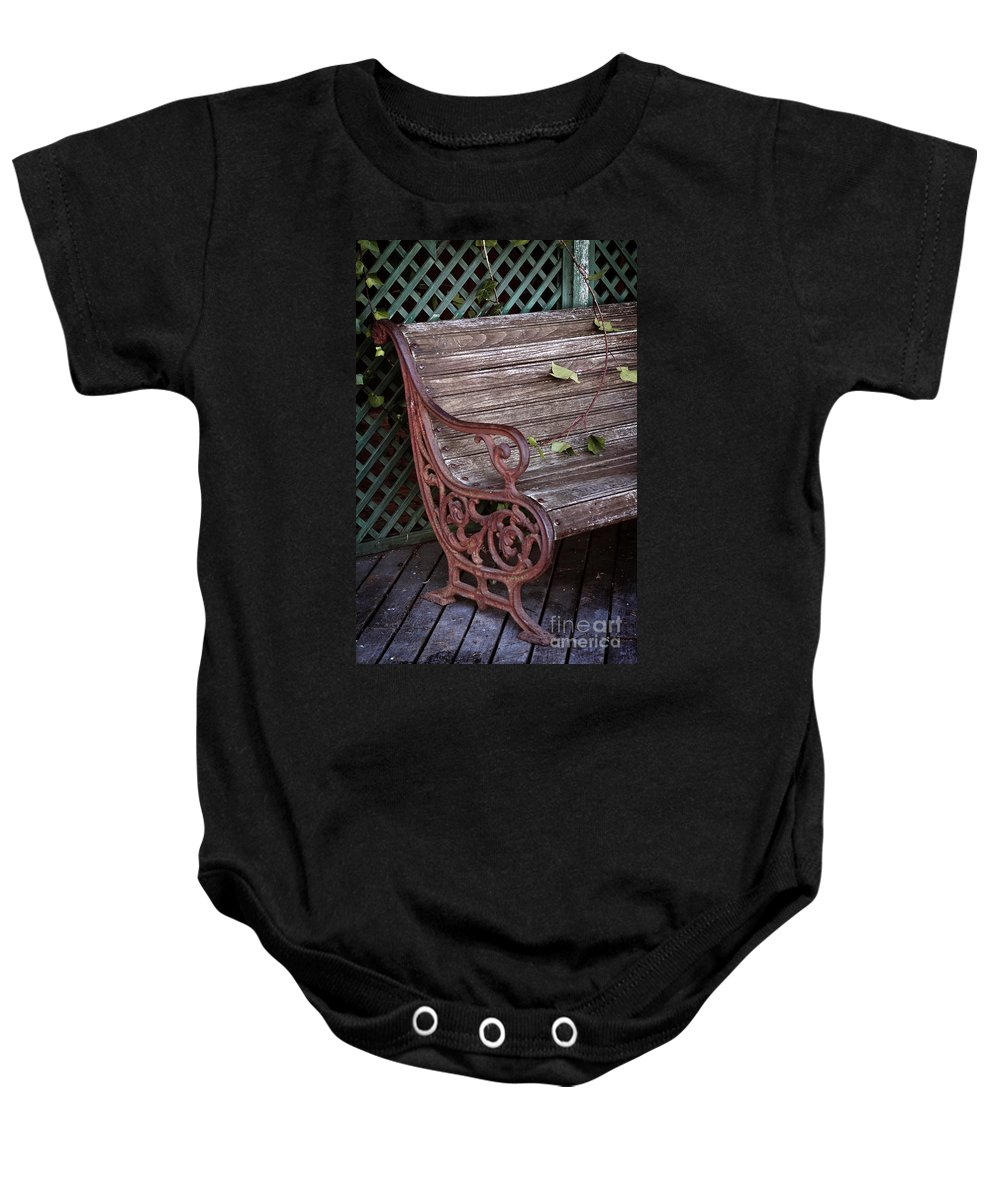 Abandoned Baby Onesie featuring the photograph Garden Chair by Carlos Caetano